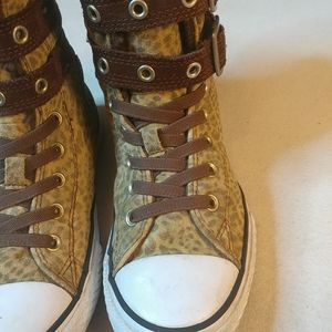 Converse Shoes - Converse All Stars leopard youth sz 4, Women 5.5.